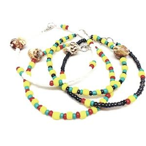 Jamaican Rasta Design Beaded Jewelry Bracelets